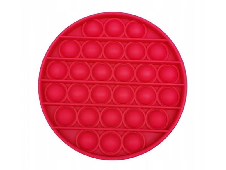 Антистресс сенсорная игрушка Pop It Круг Красный