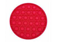 Антистресс сенсорная игрушка Pop It Круг Красный, фото 1