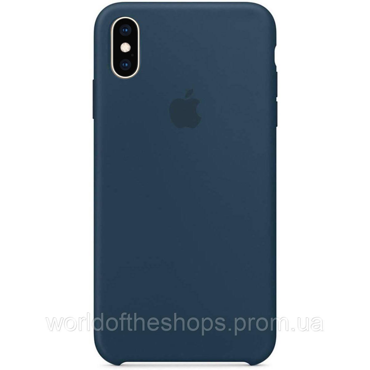 "Чехол Silicone Case (AA) для Apple iPhone X (5.8"") / XS (5.8""), Зеленый / pacific green"