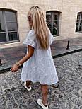Сукня трапеція білого кольору на літо (Норма), фото 3