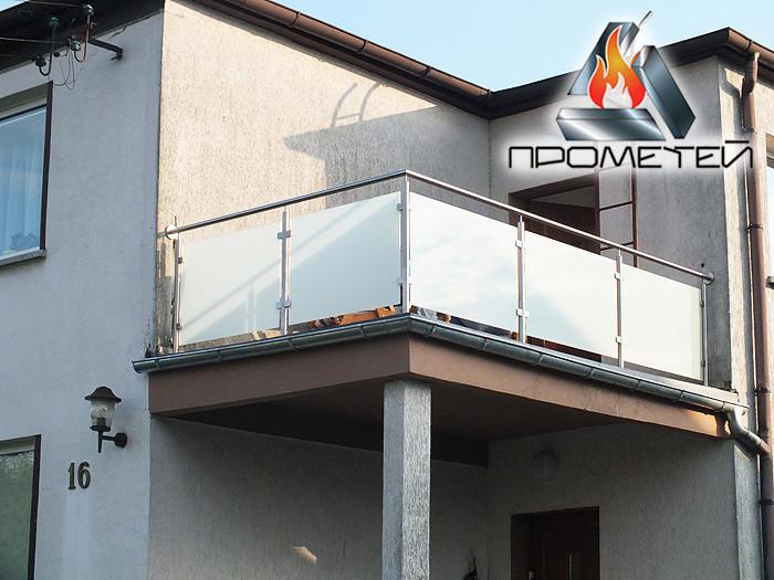 Перила стальные и стеклянные- для террасы, веранды, балкона - быстрый просчет и установка для вашего дома