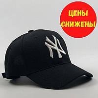 Бейсболка мужская / Кепка мужская / Чёрная бейсболка / Кепка new york / Кепки new era / Кепка Нью Йорк янкиз