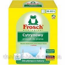 Пральний порошок Фрош для білої білизни з відбілювачем Frosch Cytrynowy 1.35 кг