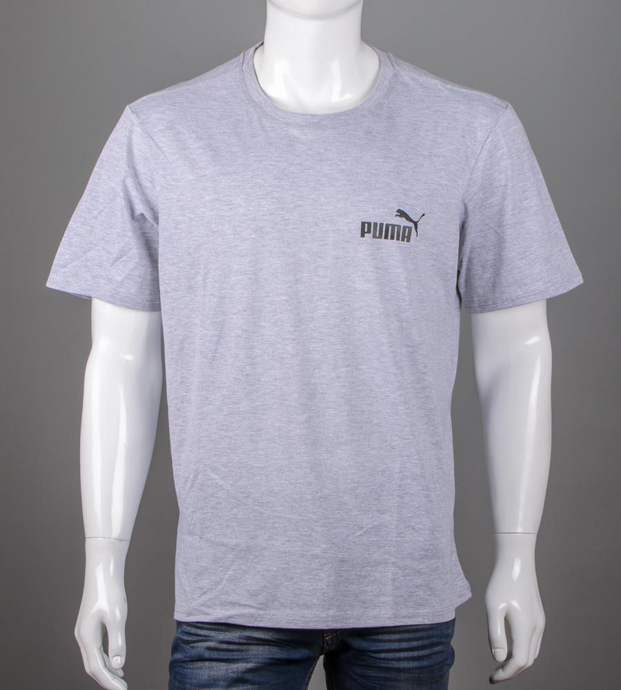 Футболка супер-батал Puma(2108сб), Серый меланж