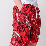 Мужские бриджи (плащевка),красного цвета, фото 3