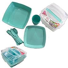 Набір посуду для пікніка на 6 персон пластик Plast Art (Туреччина)