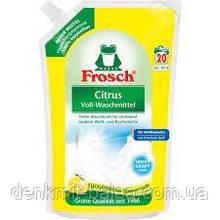 Гель Фрош для прання білих тканин з екстрактом Лимона Frosch Citrus Vollwaschmittel 1800 мл