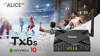 SMART ТБ Box Tanix TX6S Android 10 Allwinner H616 4GB/64GB Wi-fi 2.4 / 5.0 Гц Wi-Fi BT 4,0