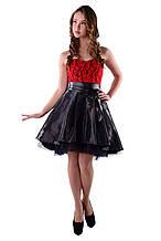 """Платье """"Нардин""""красное размеры М , L  арт 4855"""