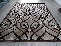 Ковёр коричневый орнамент 3х4 м.
