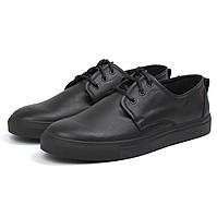 Шкіряні кросівки, кеди повсякденні чоловічі сліпони чорні на широку ногу Rosso Avangard OrigSlipy Black, фото 1