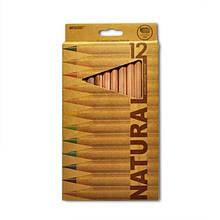 """Олівці кольорові MARCO 12 кольорів №6400-12CB natural """"JUMBO"""" + точилка"""
