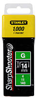Скобы тип G Stanley 1-TRA708T 12мм (Степлер Stanley 6-TR250, 6-TR151Y) 1000шт