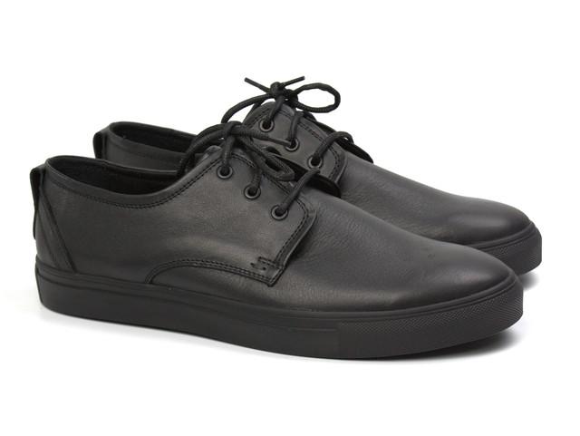 Шкіряні кросівки, кеди повсякденні чоловічі сліпони чорні на широку ногу Rosso Avangard OrigSlipy Black