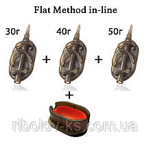 "Набор кормушек R-KS ""Flat Method in-line"" 30+40+50гр + пресс форма"