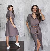 Женское льняное платье.Размеры:42/48+Цвета