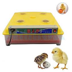 Инвекторный автоматический инкубатор DZE-63 (8 лотков по 11 ячеек) инкубатор с автоматическим переворотом яиц