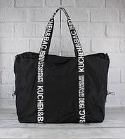 Сумка дорожня, спортивна, пляжна текстильна жіноча чорна Emkeke 977