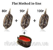 "Набор кормушек R-KS ""Flat Method in-line"" 80+90+100гр + пресс форма"