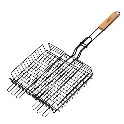 Решетка-гриль для барбекю на мангал Maestro MR-1002 С антипригарным покрытием 25х30 см, фото 2