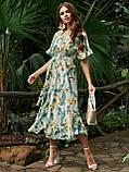 Расклешенное платье макси в цветочный принт ЛЕТО, фото 2