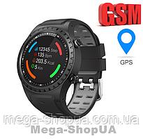 Сенсорные умные смарт телефон часы M1SBG Smart Watch GPS, GSM. Фитнес браслет трекер. Розумний годинник