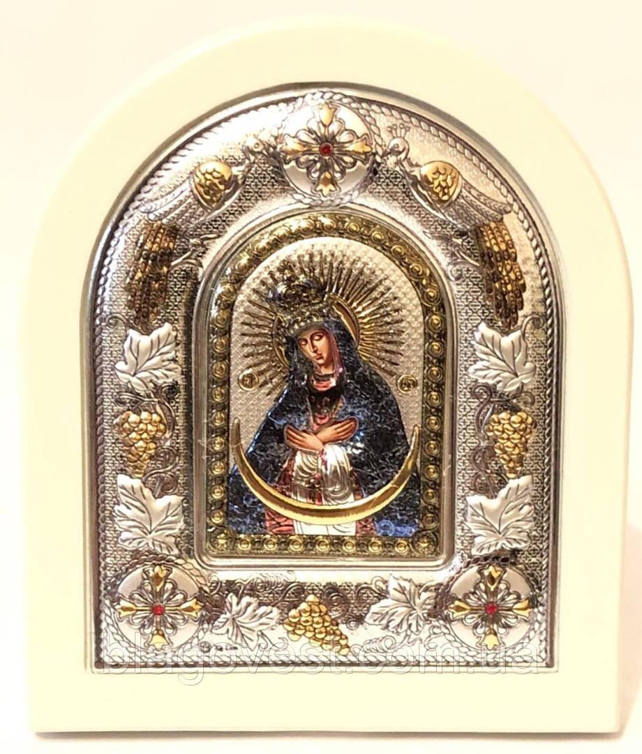 Икона Остробрамская 12х14 эмаль