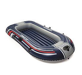 Двухместная надувная лодка Bestway 61064 Hydro-Force Raft, синяя, 228х121х36 см