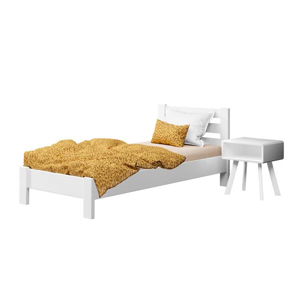 Кровать деревянная односпальная Рената Люкс (бук)
