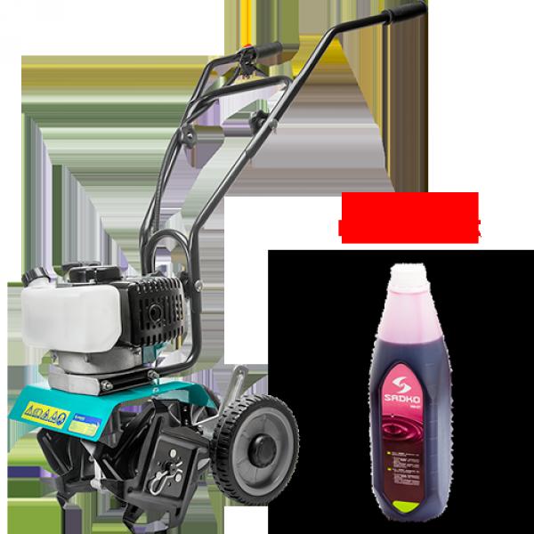 Мотокультиватор Sadko T-240, 2-х тактный двигатель, бензин, 1.7 л.с.