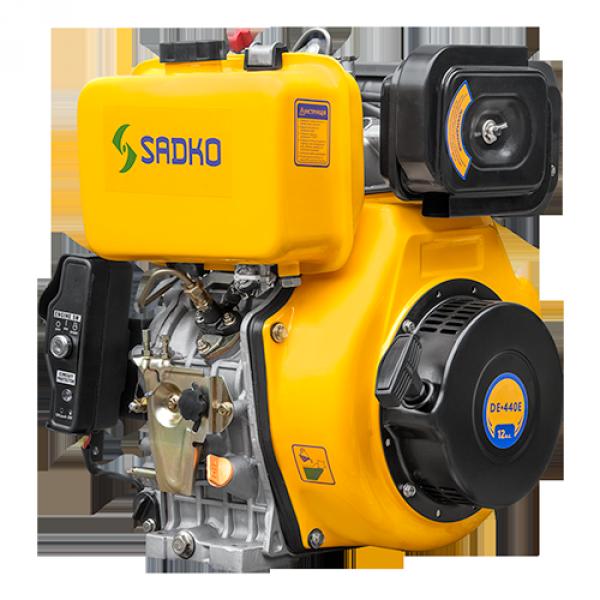 Двигатель дизельный Sadko DE-440E, 12 л.с, шпоночной вал, БЕСПЛАТНАЯ ДОСТАВКА!