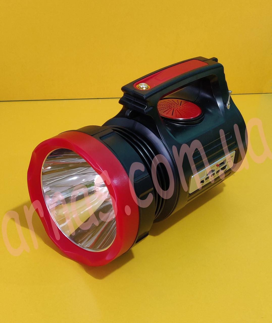 Аккумуляторный фонарь с боковым светом YJ-1908T(SY)K