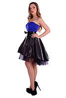 "Платье ""Нардин""синее S,M,L."