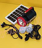 Акумуляторний ліхтар з боковим світлом YJ-1902T (5W+22SMD+Solar battery), фото 3