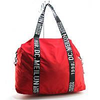 Сумка дорожня, спортивна, пляжна текстильна жіноча червона Emkeke 977