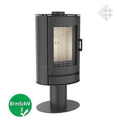 Кафельная печь-камин Kratki KOZA AB S/N/O/DR GLASS черная (8,0 кВт)