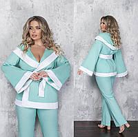 Женский льняной костюм двойка большого размера.Размеры:50/60+Цвета