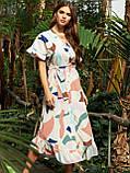 Расклешенное платье макси в цветочный принт ЛЕТО, фото 6