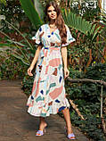 Расклешенное платье макси в цветочный принт ЛЕТО, фото 7
