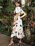 Расклешенное платье макси в цветочный принт ЛЕТО, фото 8