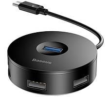 HUB адаптер BASEUS CAHUB-G01 USB3.0 4USB, черный