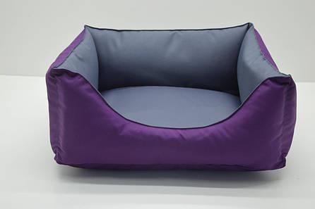 Лежак для собак Гармония №3 500х650х230 фиолетовый, фото 2