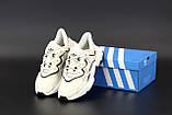 Жіночі кросівки Adidas Ozweego в стилі Адідас Озвиго БІЛІ (Репліка ААА+), фото 6