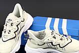Жіночі кросівки Adidas Ozweego в стилі Адідас Озвиго БІЛІ (Репліка ААА+), фото 7