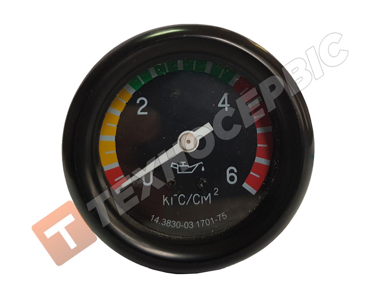 Указатель давления масла ГАЗ-66-01, 66-11, 66-40, 5903, УРАЛ-4322, 5323, КАМАЗ-4310,4410, ЗиЛ-130 (0-6кгс/см2)