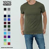Однотонная мужская футболка, премиум качество, 100% cotton / Размеры:M-3Xl - цвет хаки