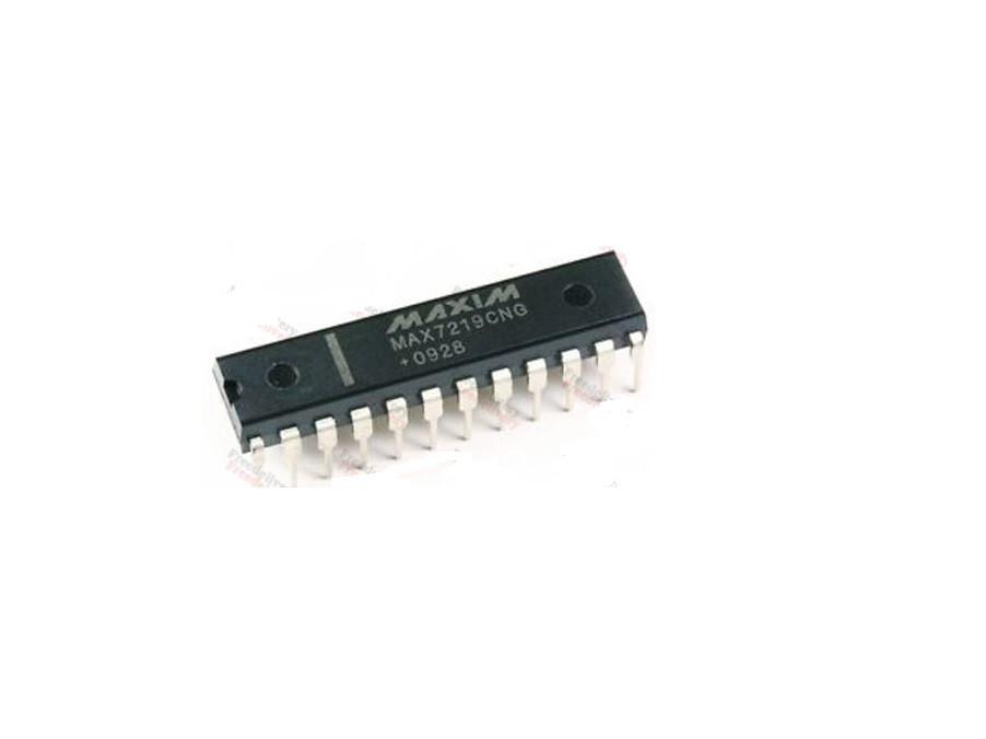 Чип MAX7219CNG MAX7219 DIP24, Драйвер светодиодного LED индикатора