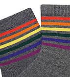 Набір 5 шт. Шкарпетки чоловічі укорочені спорт Bross веселка, фото 2