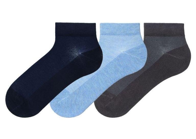 Набор 3 шт. Носки мужские летние Bross сеточкой