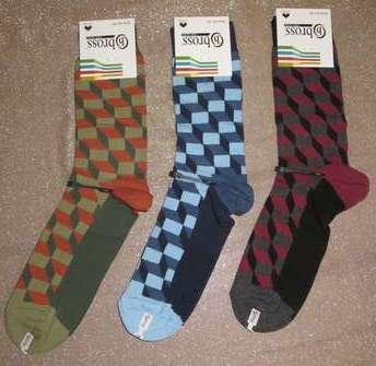 Набір 3 шт. Шкарпетки чоловічі демісезонні Bross абстракція